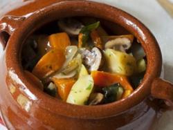 Estofat de verdures amb seitan i bolets