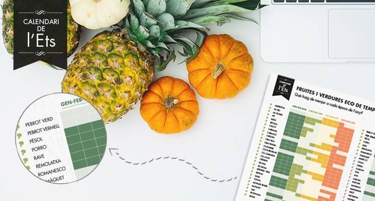foto Calendari en paper de fruites i verdures eco de temporada - 1