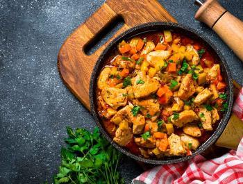 7 plats de cullera amb pollastre