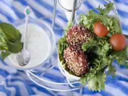 Minihamburgueses veganes amb tzatziki