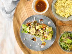 """Migas"" cremoses de tofu"