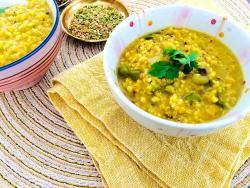 Kitchari netejador, nutritiu i reequilibrador de mill i llentia vermella