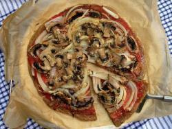 Pizza sense gluten, vegana, lleugera i fàcil de digerir